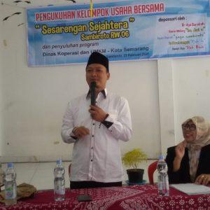 Jauhar Awaluddin Hadiri Pengukuhan KUBE di Sambiroto